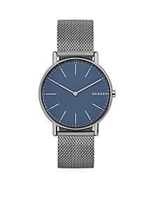 Men's Titanium Signature Slim Steel-Mesh Watch