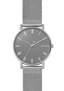 Skagen Silver-Tone Signature Steel-Mesh Watch