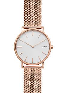 Men's Rose Gold-Tone Hagen Slim Mesh Watch