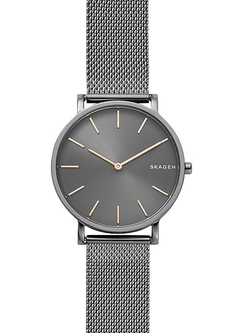Skagen Mens Stainless Steel Hagen Slim Steel-Mesh Watch
