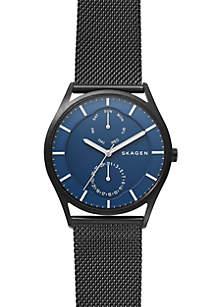 Men's Stainless Steel Holst Black Steel-Mesh Multi-function Watch