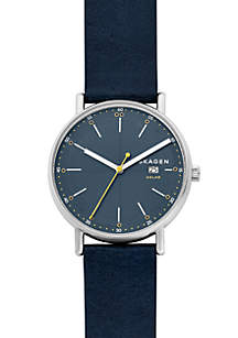Men's Stainless Steel Signatur Solar Leather Watch
