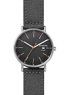 Skagen Men's Stainless Steel Signatur Solar Recycled Nylon Watch