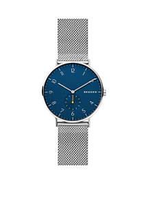 Men's Stainless Steel Aaren Steel-Mesh Watch