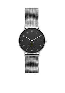 Women's Stainless Steel Aaren Dark Gray Steel-Mesh Watch