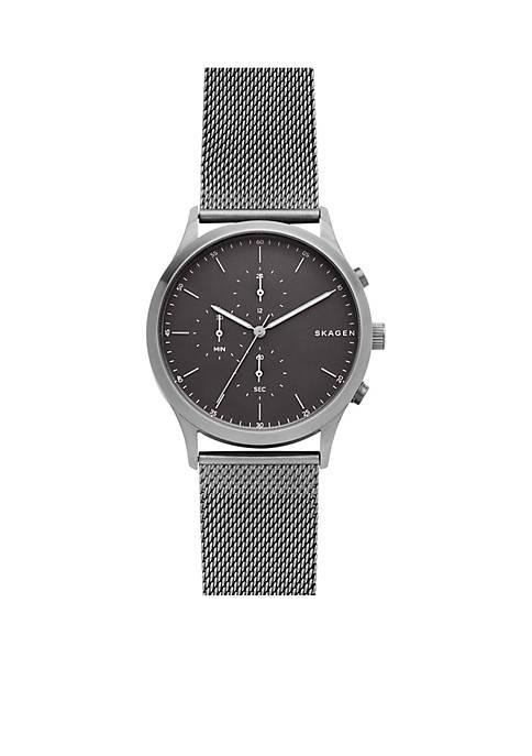 Skagen Jorn Steel-Mesh Chronograph Watch