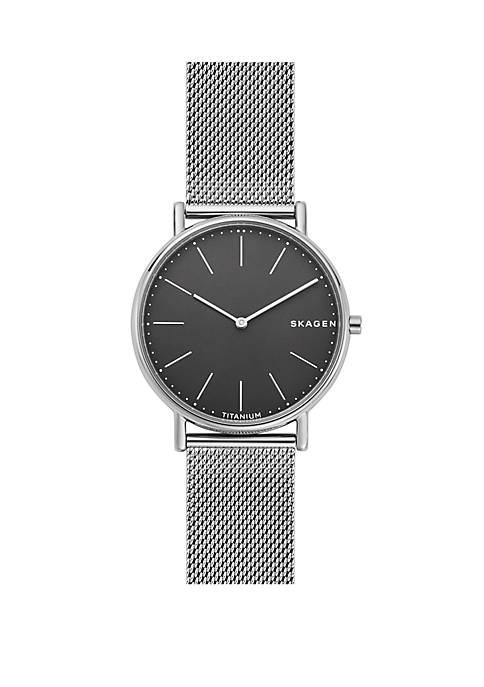 Signatur Slim Titanium and Steel-Mesh Watch