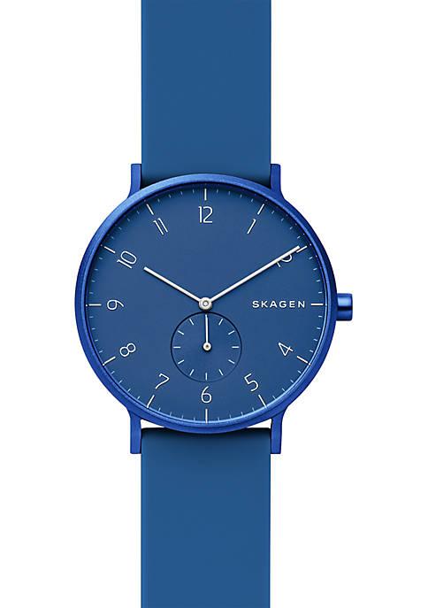 Skagen Aaren Kulør Blue Silicone Watch