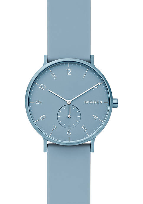 Aaren Kulør Light Blue Silicone Watch