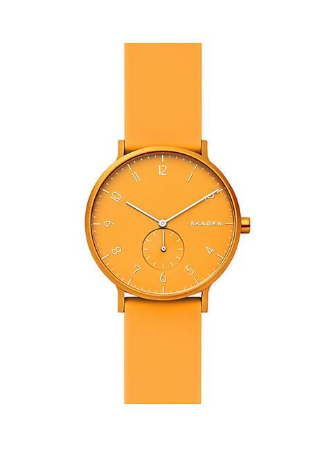 Aaren Kulør Yellow Silicone Watch