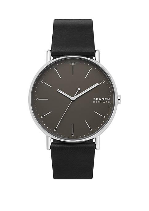 Signatur Black Leather Watch