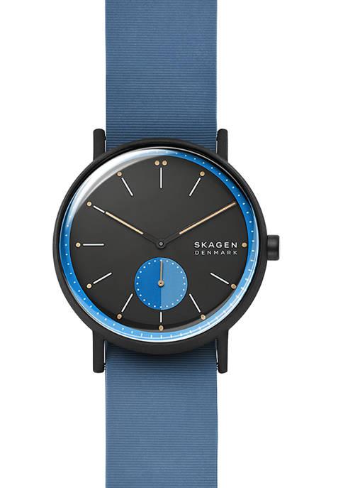 Mens Signatur Blue Silicone Field Watch