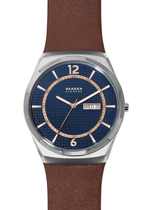 Mens Melbye Brown Leather Watch