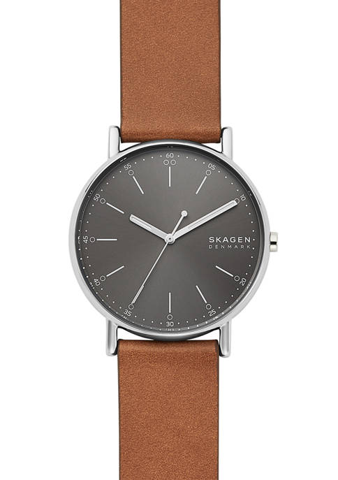 Mens Signatur Brown Leather Watch