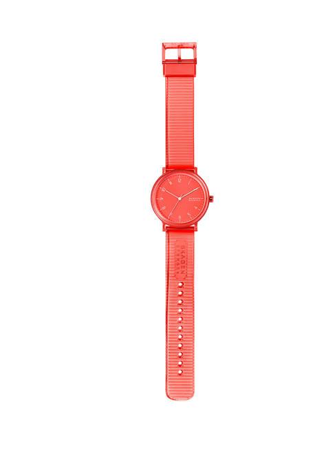 Aaren Orange Silicone Watch