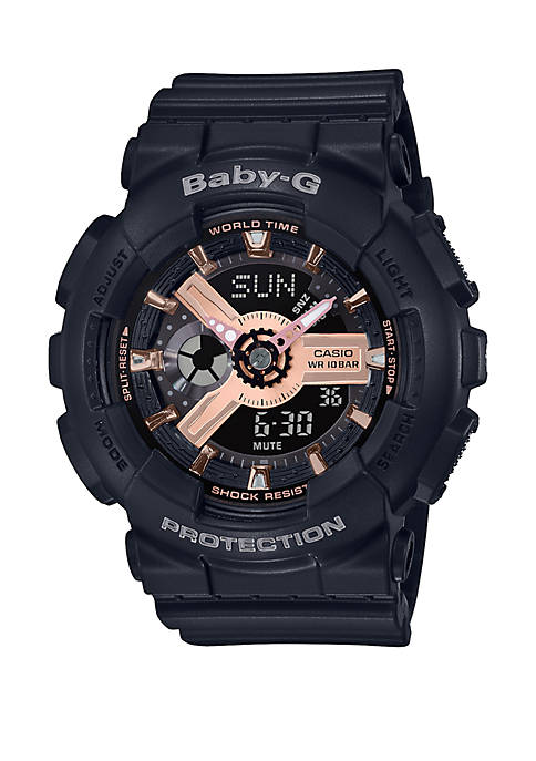 G-Shock Analog-Digital Black Resin Strap Watch