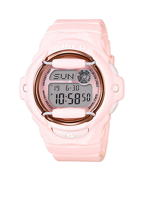 Baby-G Womens Pastel Pink Watch with Rose Gold