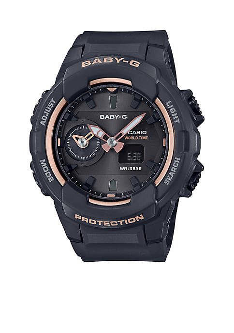 Casio Black With Rose Gold Face Ana-Digi Baby-G