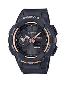 Black With Rose Gold Face Ana-Digi Baby-G Watch