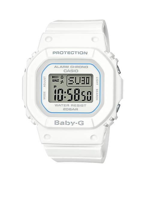 G-Shock Womens White Square Digital Watch