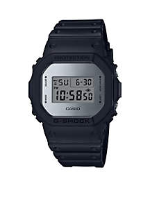 Black with Mirror Square Digital Watch
