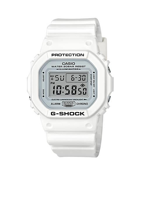 Casio G-Shock White Square Digital Band Watch