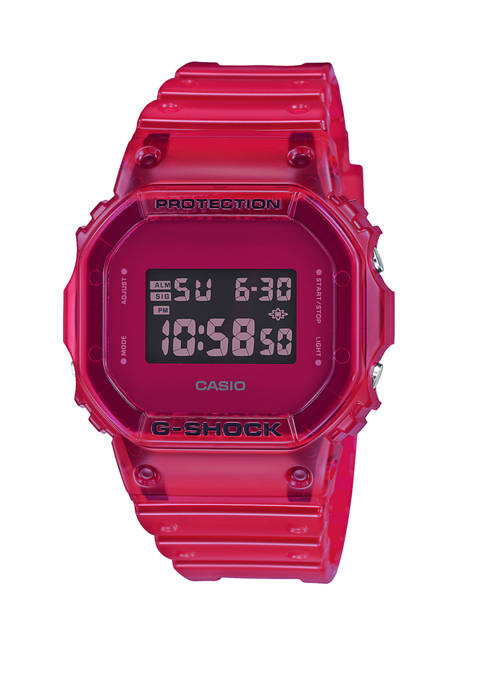 G-Shock Mens Red Jelly Digital Watch