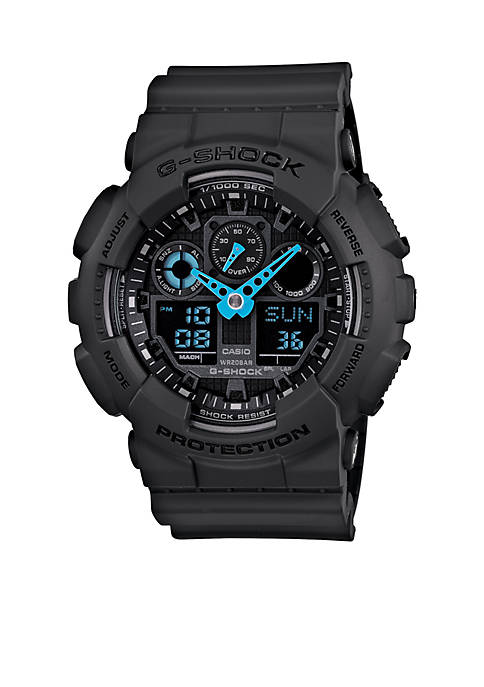 G-Shock Grey XL Blue Hands Watch