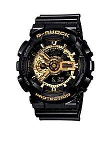 XL Combination Black and Gold Watch