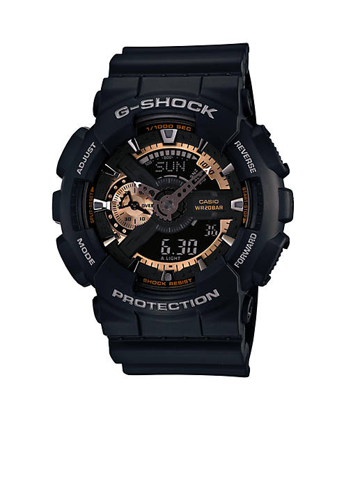 G-Shock Black and Rose Gold Ana-Digi Watch