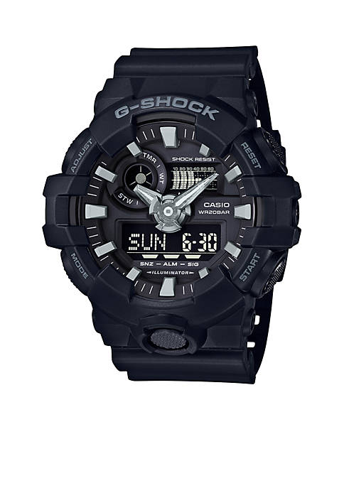 G-Shock Mens Black Ana-Digi with Black Front Light