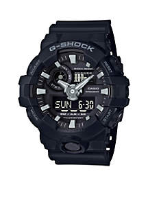 Men's Black Ana-Digi with Black Front Light Button Watch
