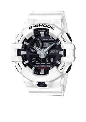 28001a841 G-Shock Men's White and Black Ana-Digi G-Shock Watch ...