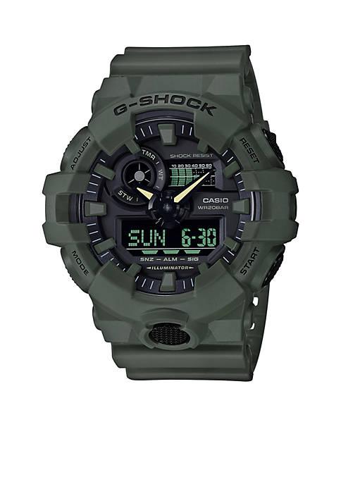Mens G-Shock Ana-Digi Military Green Sport Watch