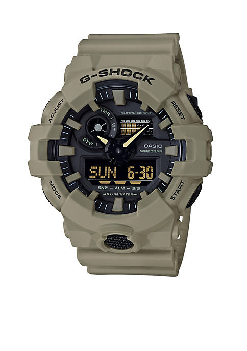 Mens G-Shock Ana-Digi Khaki Sport Watch