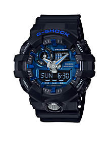 Men's Black & Blue Ana-Digi G-Shock Watch