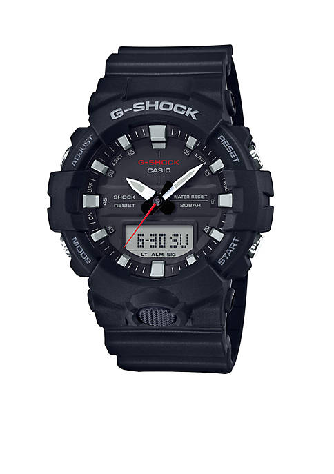 G-Shock Mens Black Slim Ana-Digi with Black Front Light Button Watch