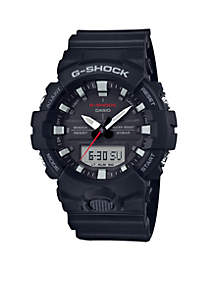 G-Shock Men's Black Slim Ana-Digi with Black Front Light Button Watch