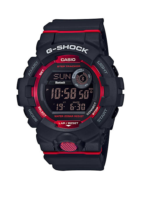 G-Shock Black Digital with Red Accents Watch