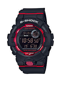 Black Digital with Red Accents Watch