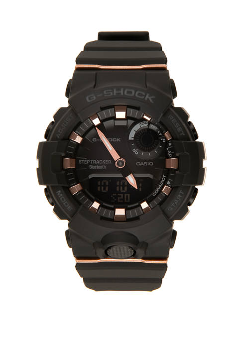 G-Shock Black and Rose Gold Trainer Watch