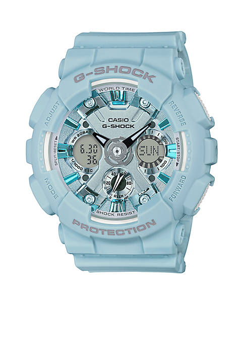 G-Shock Light Blue Ana Digital S Series Watch