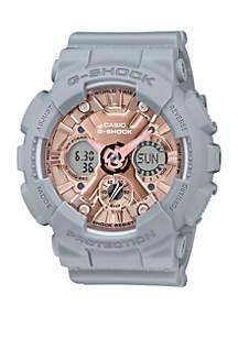 G-Shock Gray Rose Gold Analog and Digital Watch