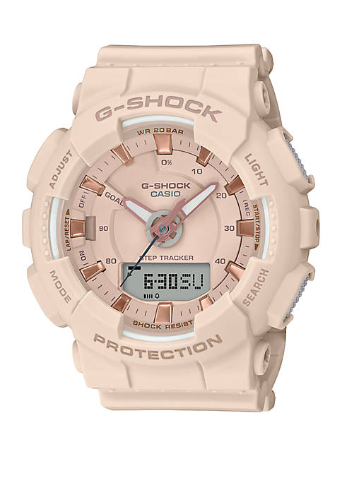 Rose Gold Analog and Digital Watch