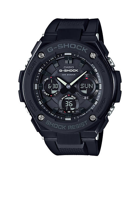 G-Shock Mens Blackout G-Steel with Resin Band Watch