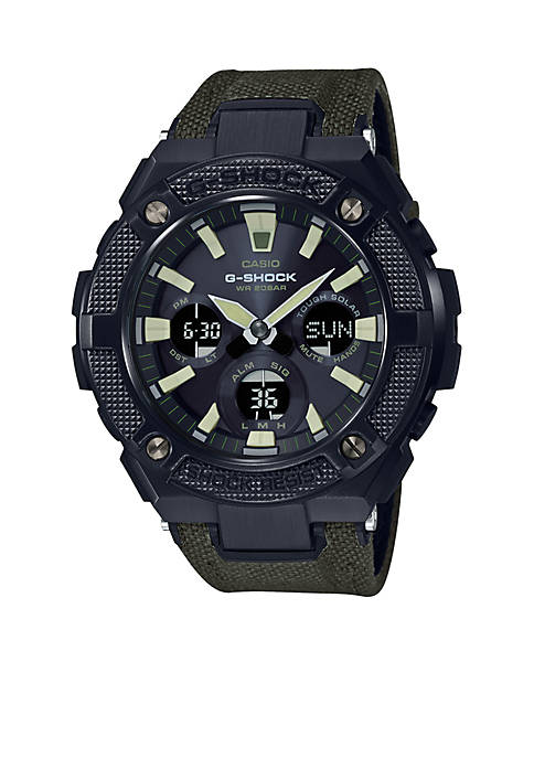 Casio G-Shock G-Steel Black Face Ana-Digi Watch With