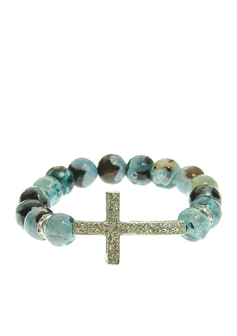 Kim Rogers® Turquoise Genuine Fire Agate Stretch Bead