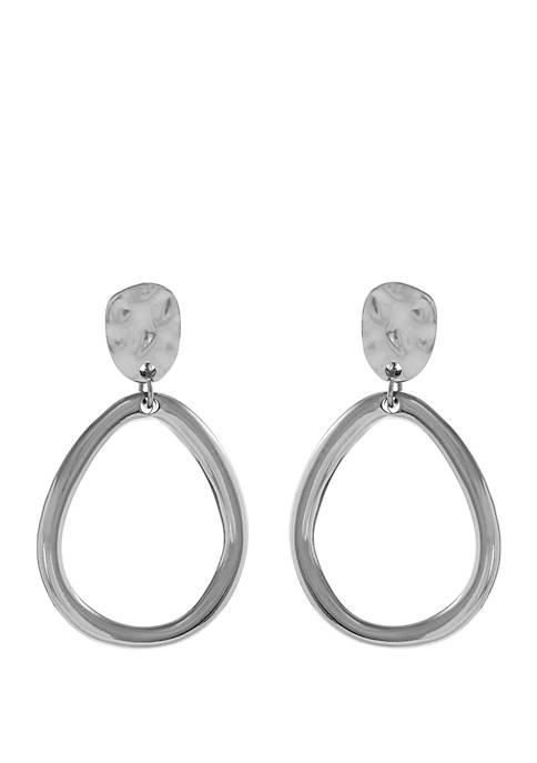 Teardrop Clip Earrings