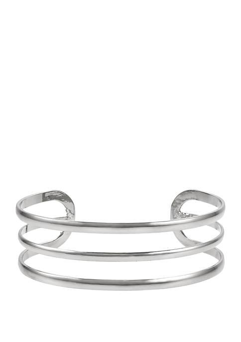 Erica Lyons Triple Bar Cuff Bracelet
