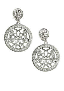 Must Have Silver Disc Clip Earrings
